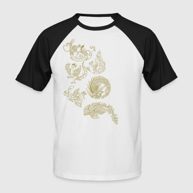 oiseaux chinois - T-shirt baseball manches courtes Homme