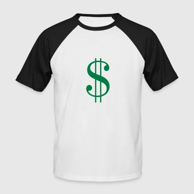 signe dollar - T-shirt baseball manches courtes Homme
