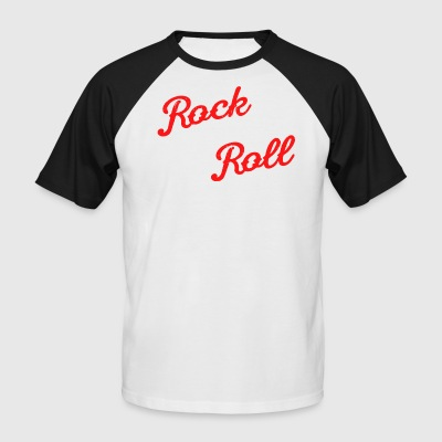 ROCK AND ROLL - Kortermet baseball skjorte for menn