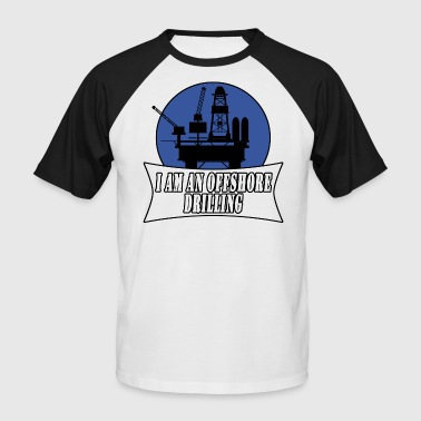 drilling rig - Men's Baseball T-Shirt