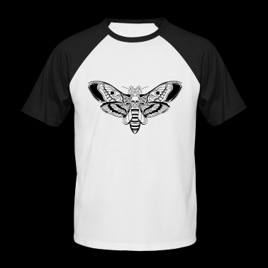 Death-Head-Moth / Tattoo Style - Men's Baseball T-Shirt
