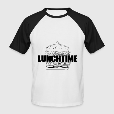 Lunch Hamburger Gift Idea Fast Food - Men's Baseball T-Shirt