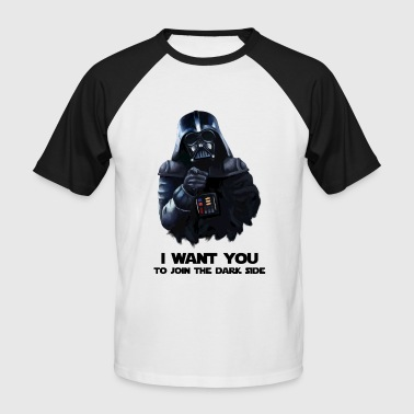 Darth Vader - Kortermet baseball skjorte for menn