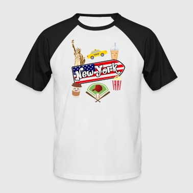 I love New York - Männer Baseball-T-Shirt