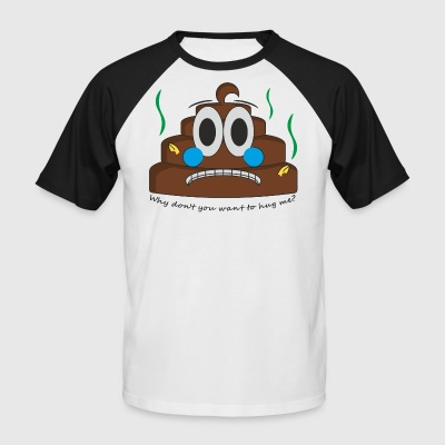 Poop emoji - Men's Baseball T-Shirt