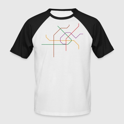 Viennese subway network - Men's Baseball T-Shirt