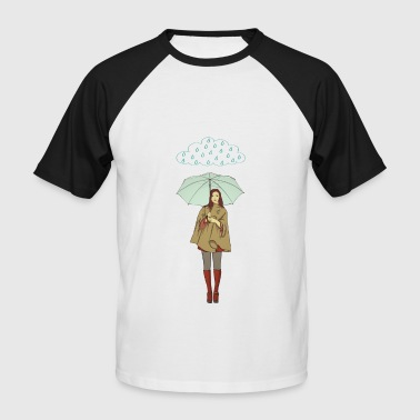 rain woman - Men's Baseball T-Shirt