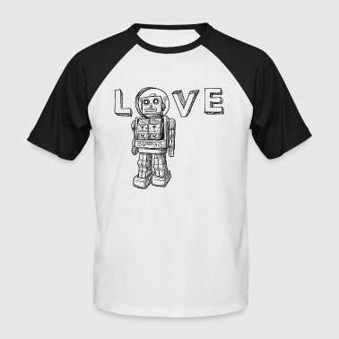 Love Robots Gifts for kids, boy, girl, adults, dad - Men's Baseball T-Shirt