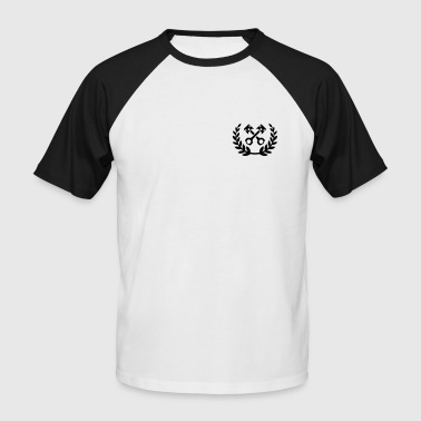 Tuning Race Cars - laurel wreath / piston - Men's Baseball T-Shirt
