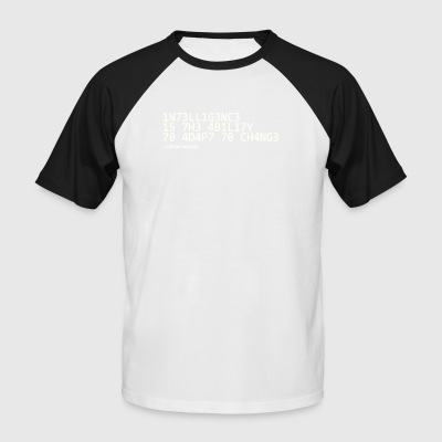 Intelligence white - Men's Baseball T-Shirt