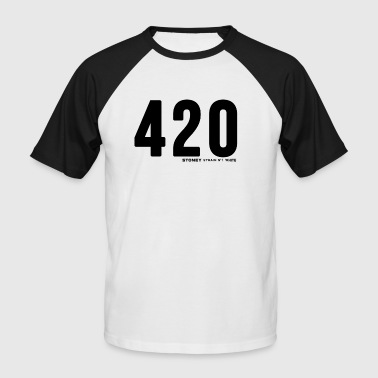 420 Strain No.1 WHITE - Men's Baseball T-Shirt