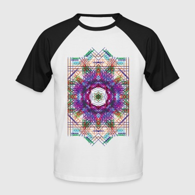 Psychedelic Star Grid - Men's Baseball T-Shirt