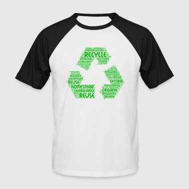 ecological word cloud - Men's Baseball T-Shirt