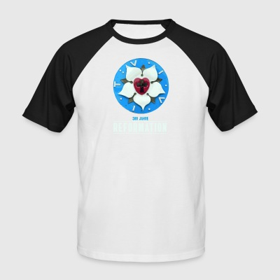luther rose reformation 500 thèses de prier Kirchentag - T-shirt baseball manches courtes Homme