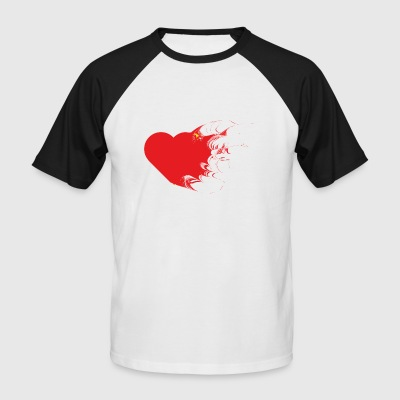 edited version of a heart - Men's Baseball T-Shirt