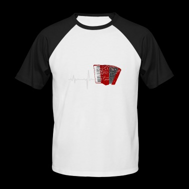 Gift Heartbeat Accordion - Men's Baseball T-Shirt
