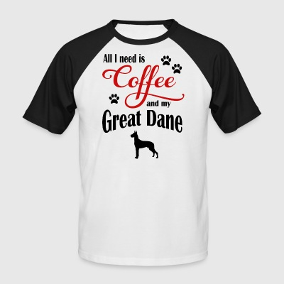 Great Dane Coffee - Men's Baseball T-Shirt
