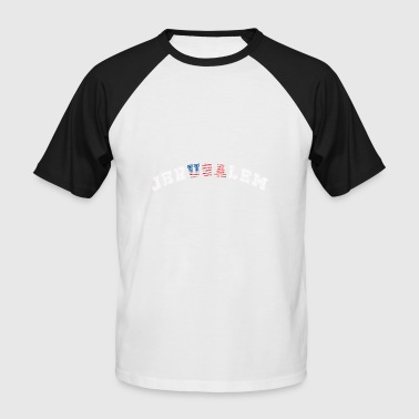 USA + Jerusalem - Männer Baseball-T-Shirt