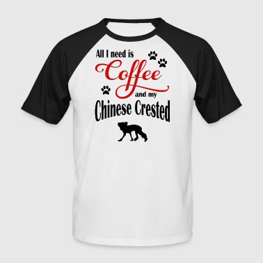 Chinese Crested Coffee - Men's Baseball T-Shirt