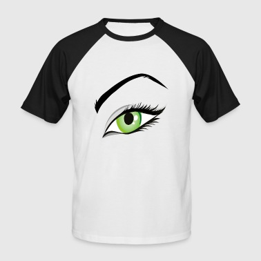 femme oeil - T-shirt baseball manches courtes Homme
