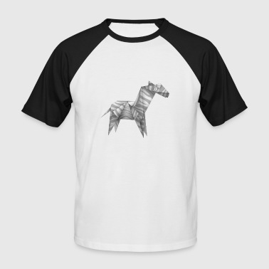 Origami Cheval - T-shirt baseball manches courtes Homme