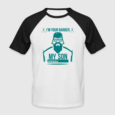 BARBER_1 - Men's Baseball T-Shirt