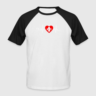 Veterinarian / Animal Lover - Heartbeat - Men's Baseball T-Shirt