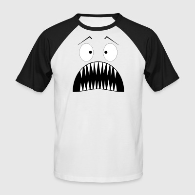 Monster surprised - Men's Baseball T-Shirt