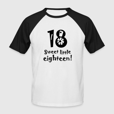 sweet little eighteen 18. Geburtstag Birthday reif - Männer Baseball-T-Shirt