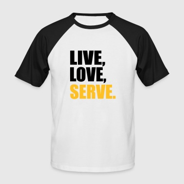 2541614 14918902 serve - Men's Baseball T-Shirt