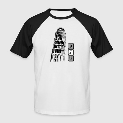 Tower of Pisa in Italic - Men's Baseball T-Shirt