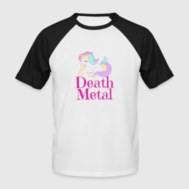 Death Metal Unicorn Unicorn - Men's Baseball T-Shirt
