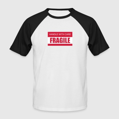 FRAGILE Handle with care 2c - Männer Baseball-T-Shirt