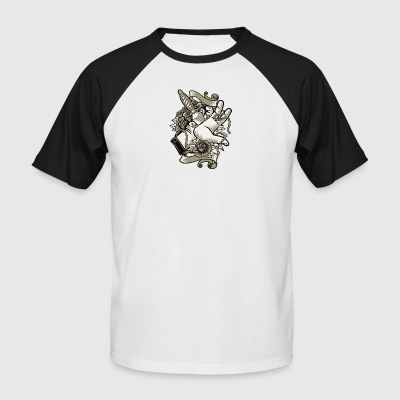 Sacrifice sacrifice knife dagger Christmas tattoo - Men's Baseball T-Shirt