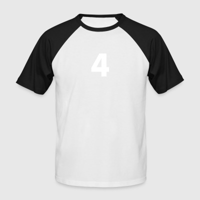 Numéro 4, Numéro 4, 4, quatre, numéro quatre, quatre - T-shirt baseball manches courtes Homme