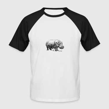 hippopotame - T-shirt baseball manches courtes Homme
