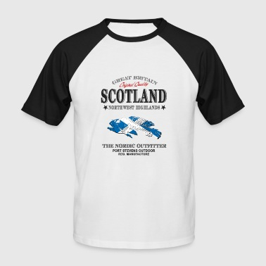 Scotland Flag - Fishing - Männer Baseball-T-Shirt