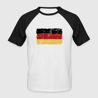 Germany Flag - Vintage Look - T-shirt baseball manches courtes Homme