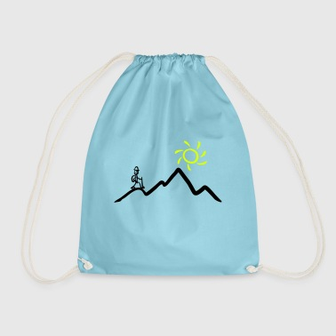 Stickman hiking on the mountains & sunshine - Gymbag
