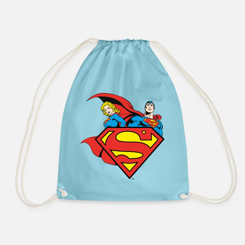 Officialbrands Sacs et sacs à dos - DC Comics Originals Superman Supergirl Logo - Sac à dos cordon aqua