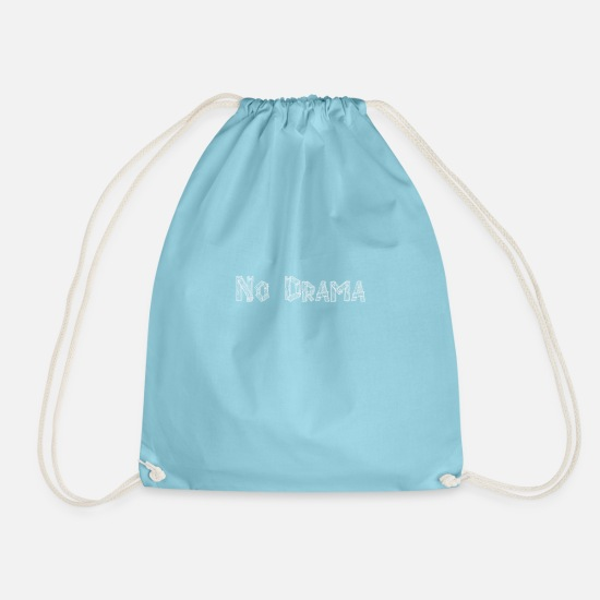 Actress Bags & Backpacks - drama - Drawstring Bag aqua