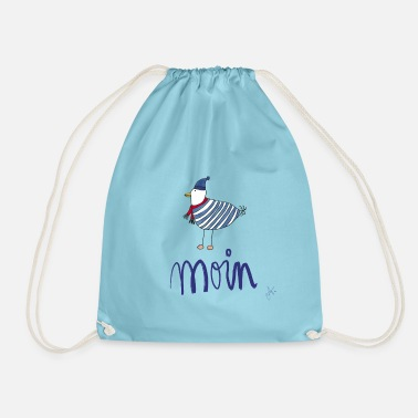 Moin seagull striped shirt - Drawstring Bag