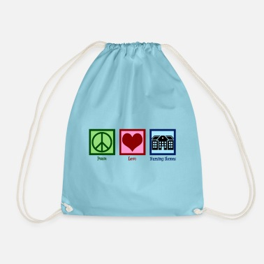 Love Peace Love Nursing Homes - Drawstring Bag