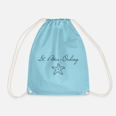 St. Peter-Ording starfish - Drawstring Bag