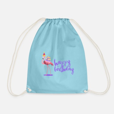 Cupleaños Happy birthday flamingo - Mochila saco