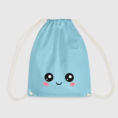 Happy Kawaii Eyes, Manga Face, Anime, Comics - Drawstring Bag