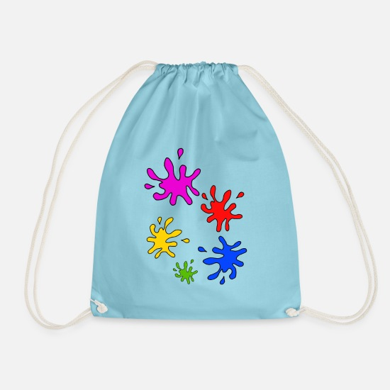 Gift Idea Bags & Backpacks - Colorful splashes of color - Drawstring Bag aqua