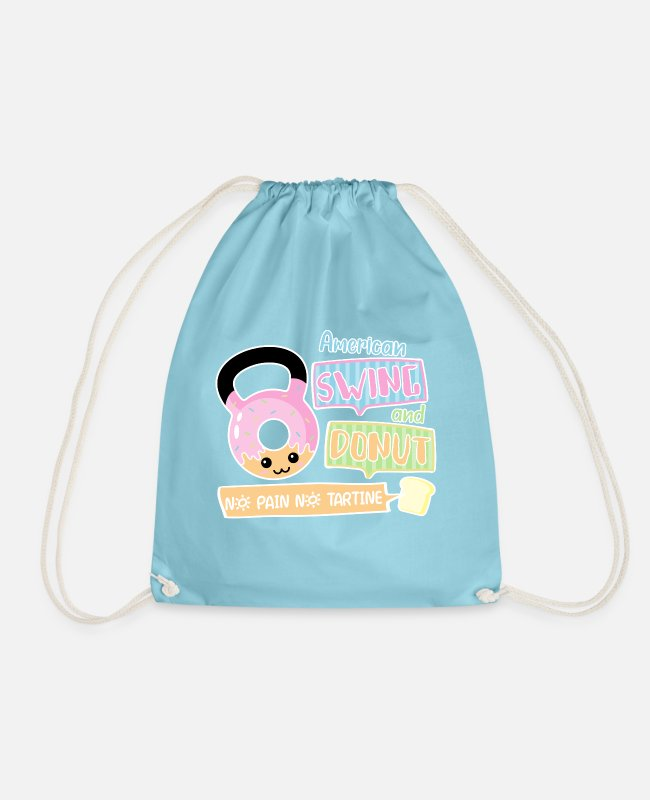 Training Bags & Backpacks - Donut american swing - Drawstring Bag aqua