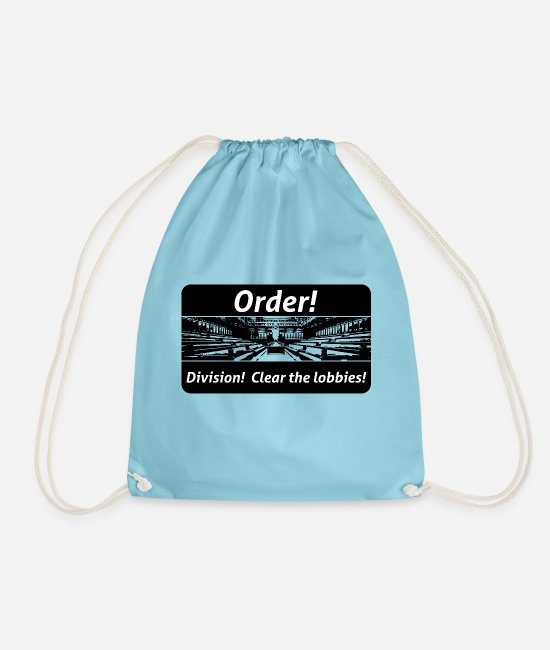 Travel Bug Bags & Backpacks - Order! Division! Clear the lobbies UK - Drawstring Bag aqua