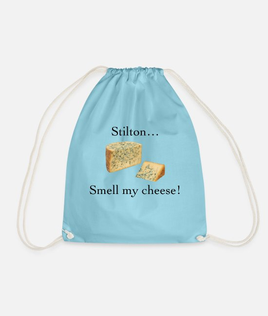 Smell My Cheese Bags & Backpacks - Smell My Cheese - Drawstring Bag aqua